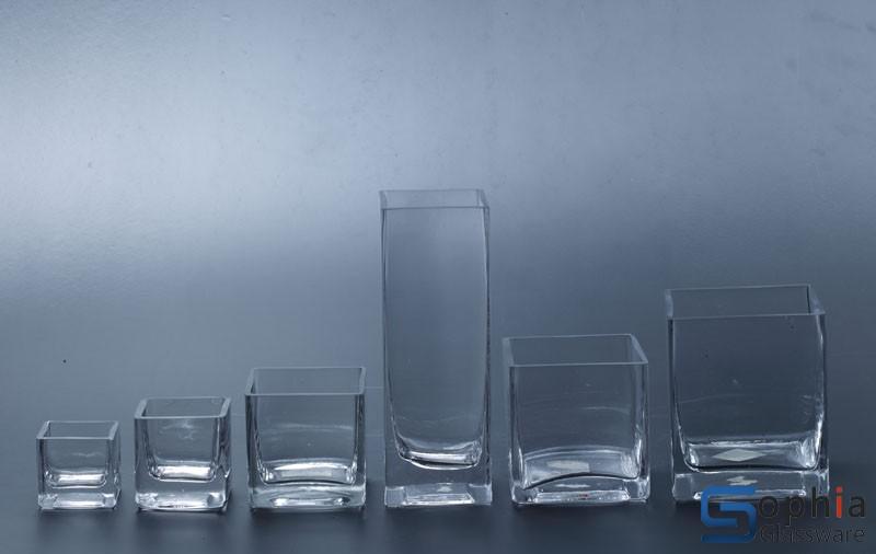 Square Glass Vase Sf001 006 Sophiaglassware Glass Vase
