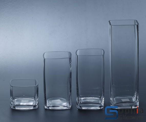 Square Glass Vase Sf013y 016y Sophiaglassware Glass Vase