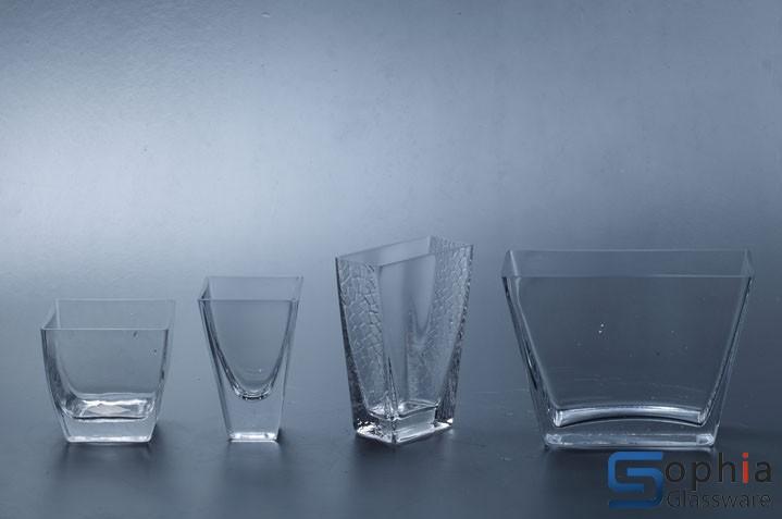 Square Tapered Glass Vase Sfd001 002sfdb001 002 Sophiaglassware