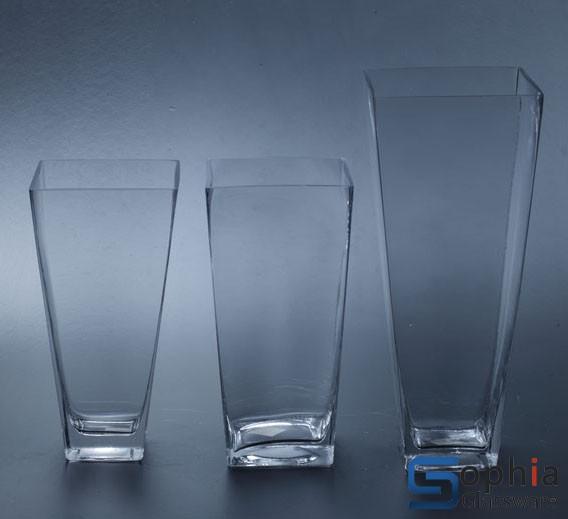 Square Tapered Glass Vase Sfd006 008 Sophiaglassware Glass
