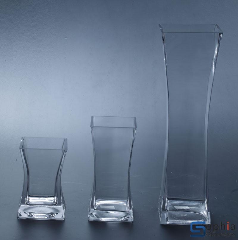 glass vase square