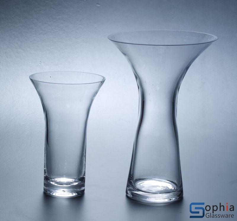 Flared Glass Vases Syq013 014 Sophiaglassware Glass Vase