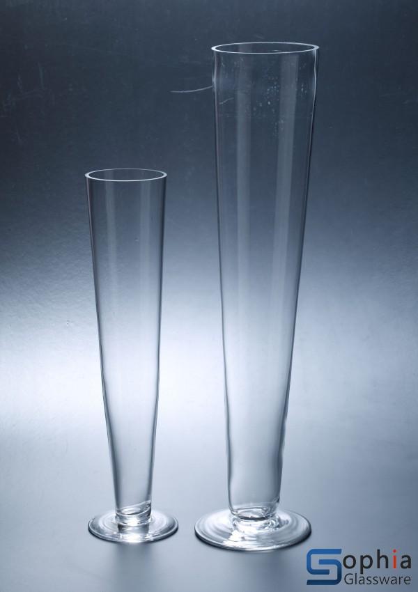 Footed Glass Vase Syt005 006 Sophiaglassware Glass Vase