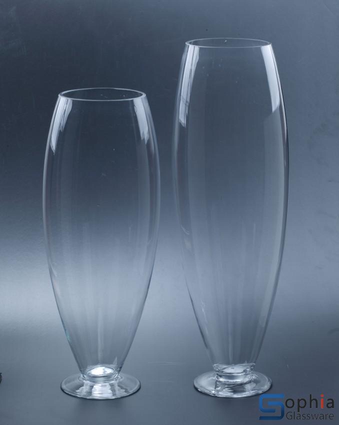 Footed Glass Vase Syz030 031 Sophiaglassware Glass Vase